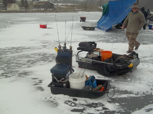 Stephen m goosley author of fishing with steve for Ice fishing tools